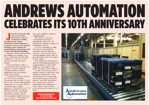 Featured in Warehouse & Logistics News