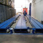 chain conveyor lineup