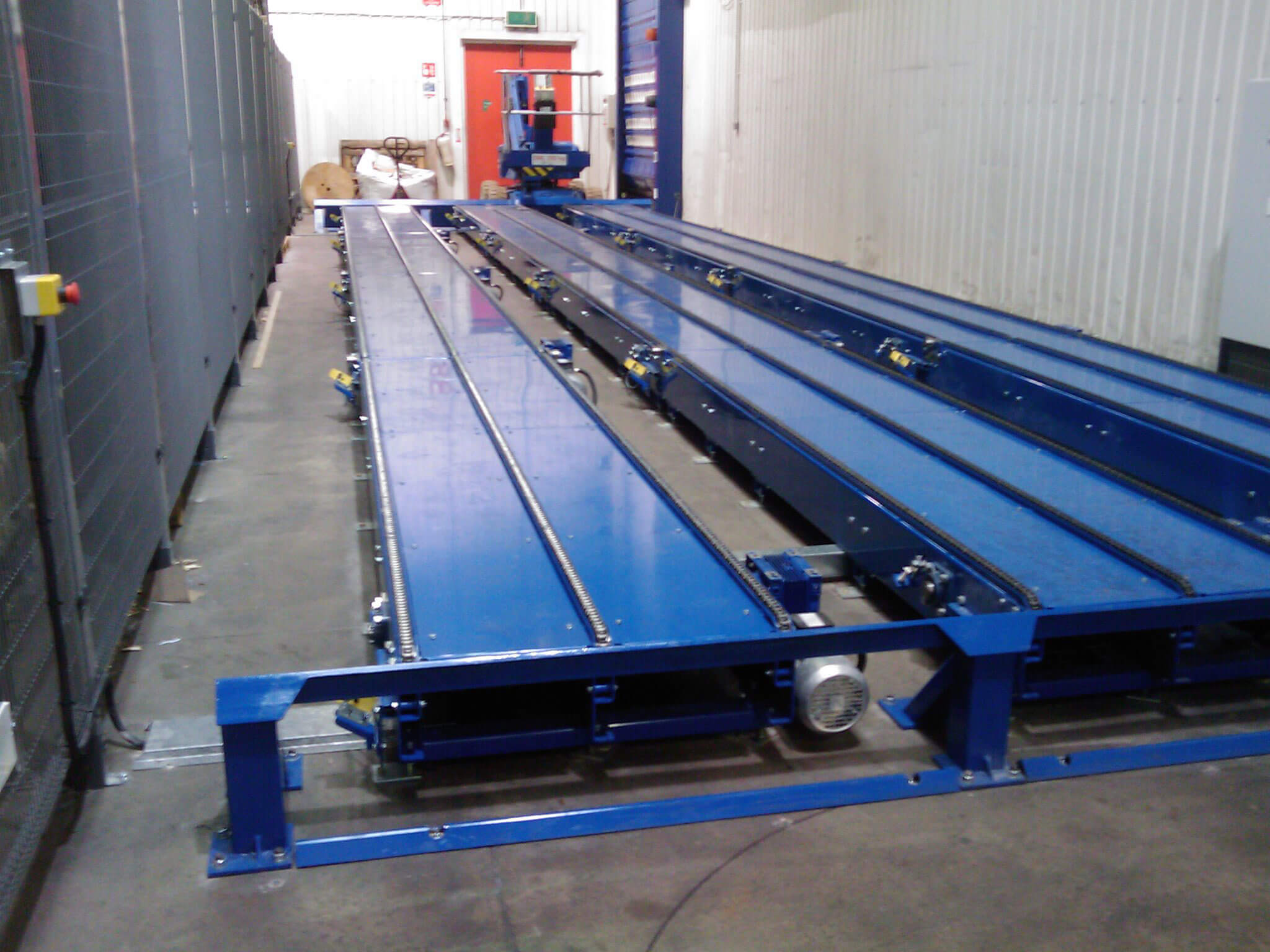 chain conveyor setup