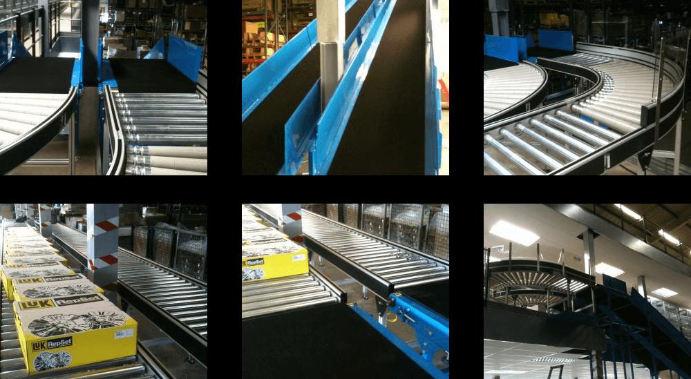 automotive component company belt & roller conveyor system