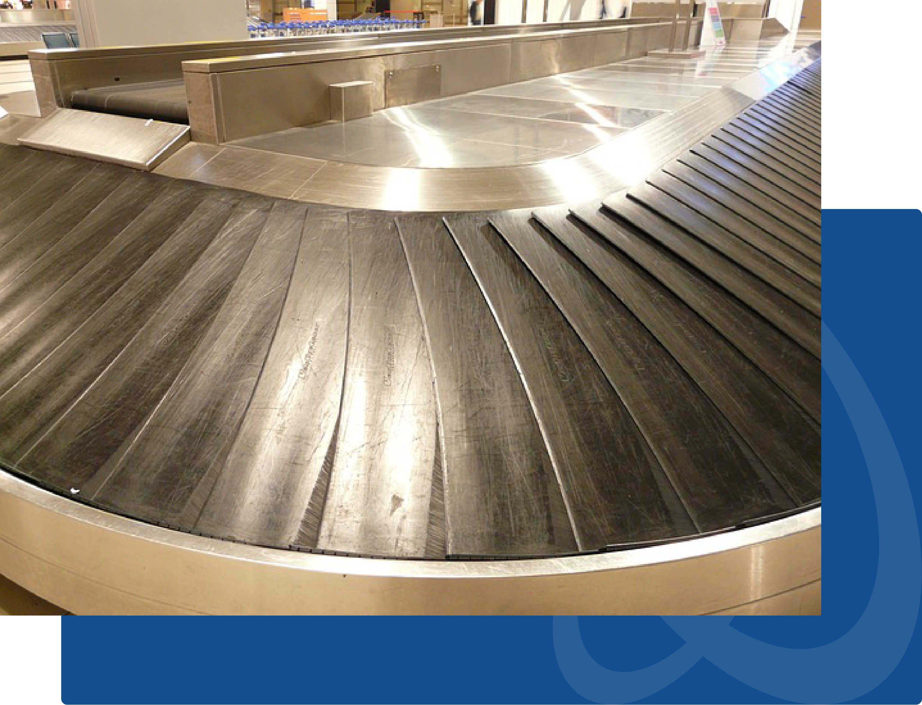 curved conveyor belt system