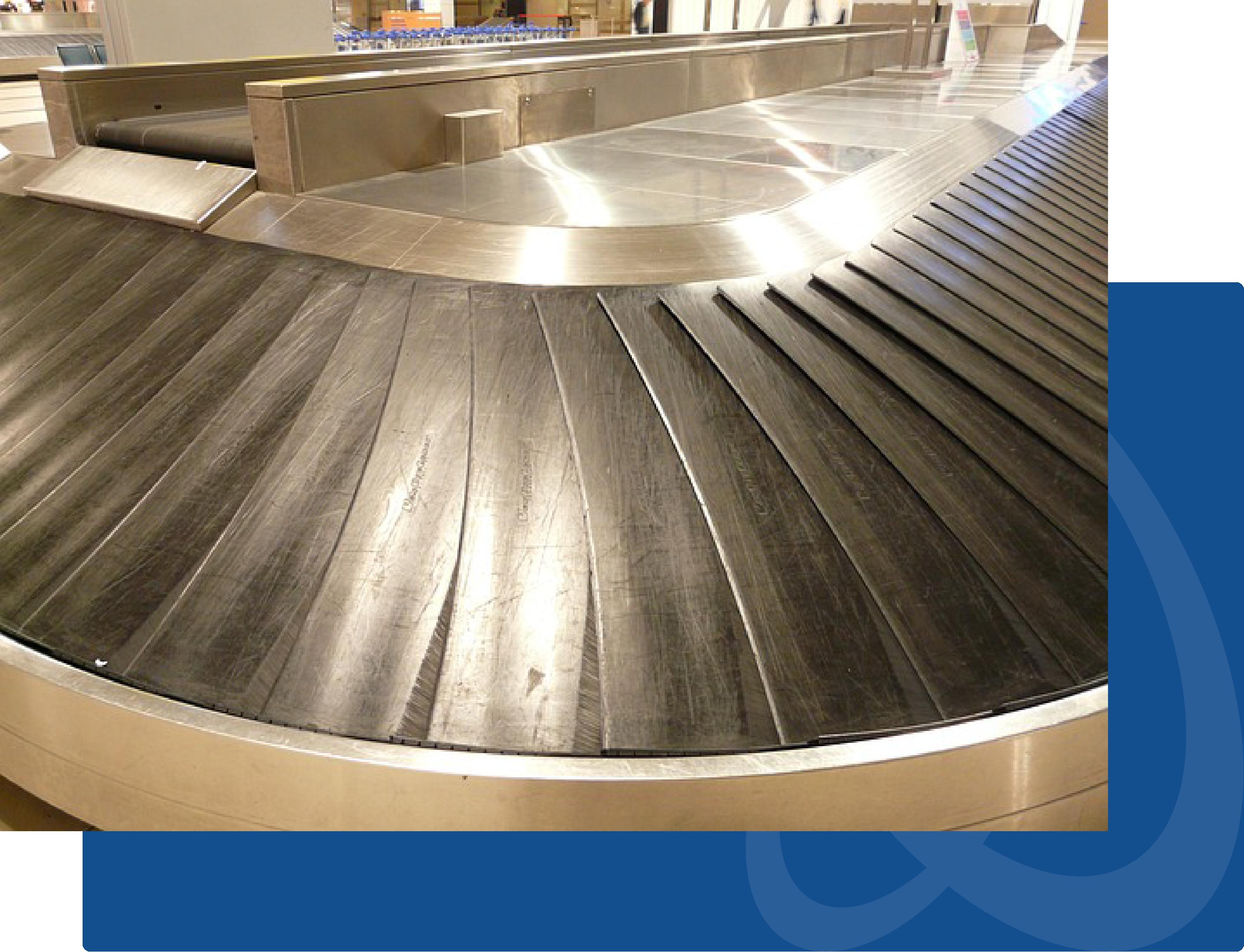 curved conveyor belt system
