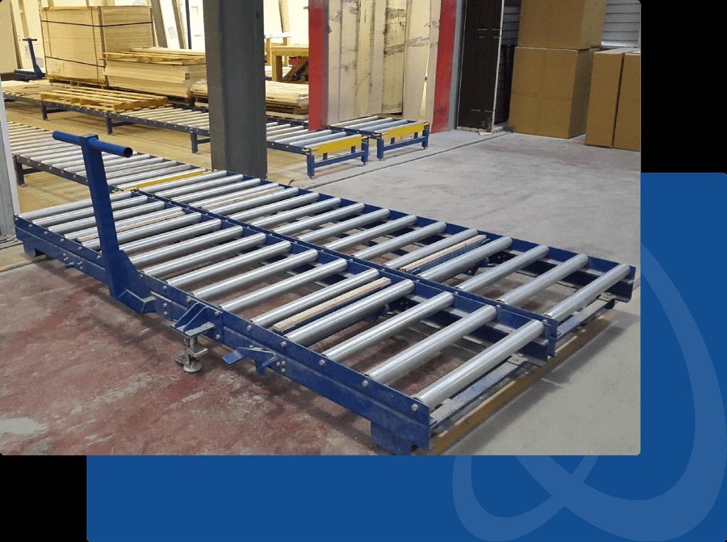 gravity conveyor trolley
